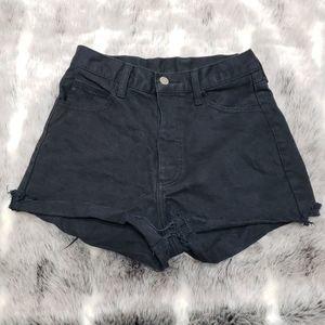 John Galt Black Button Fly Shorts, sz 5
